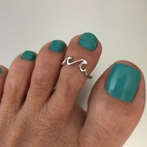 Jewelry - Sterling Silver Little Waves Toe Ring